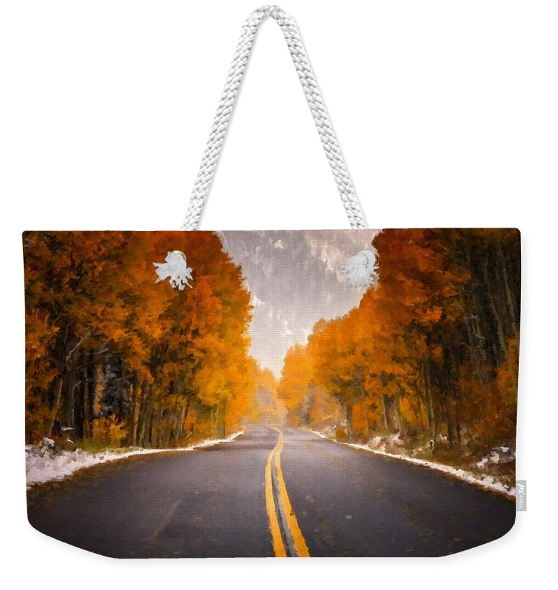 C Weekender Tote Bag featuring the digital art Landscaped by Usa Map