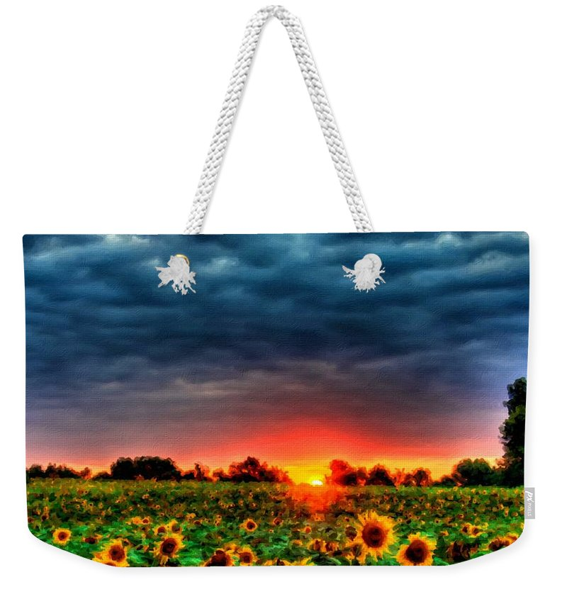Landscape Weekender Tote Bag featuring the digital art Landscapes To Paint by Usa Map