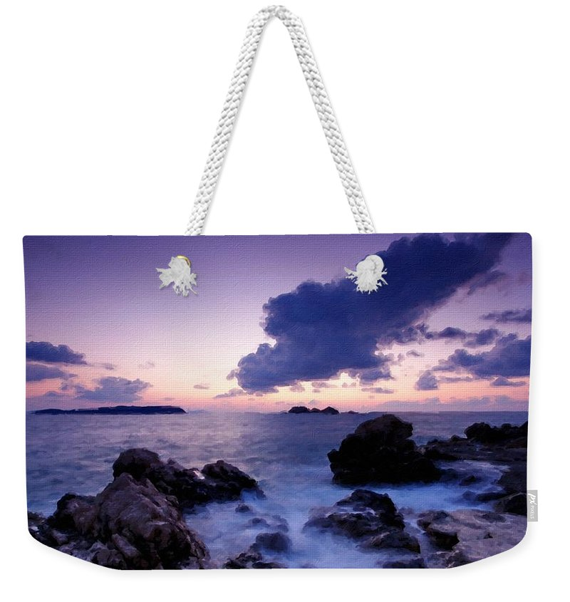 Landscape Weekender Tote Bag featuring the digital art Nc Landscape by Usa Map
