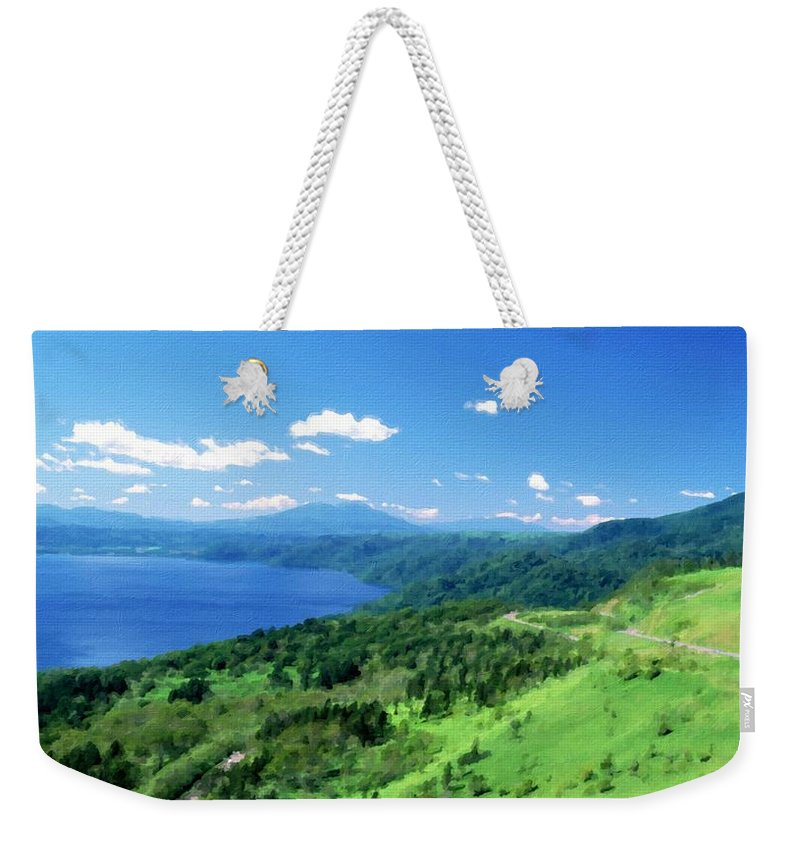 Nature Weekender Tote Bag featuring the digital art Pro Landscape by Usa Map