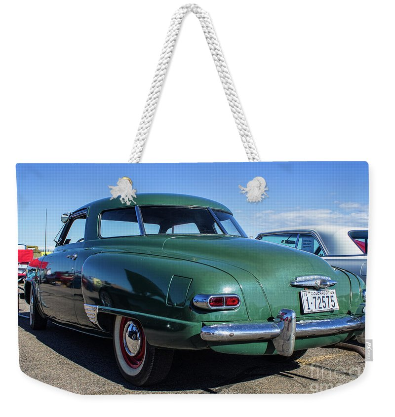 Studebaker Weekender Tote Bag featuring the photograph 48 Studebaker Champion by Steven Parker