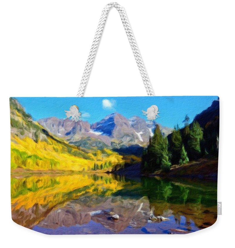 Landscape Weekender Tote Bag featuring the digital art D J Landscape by Usa Map
