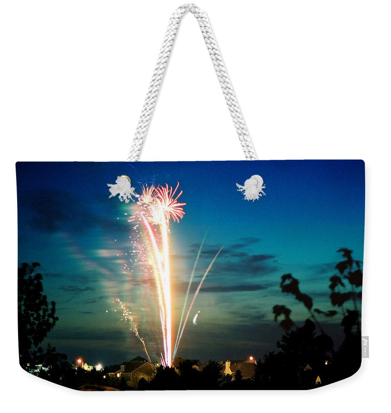 Landscape Weekender Tote Bag featuring the photograph 4rth Of July by Steve Karol