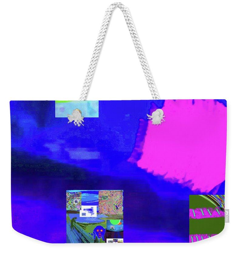 Walter Paul Bebirian Weekender Tote Bag featuring the digital art 5-14-2015gabcdef by Walter Paul Bebirian