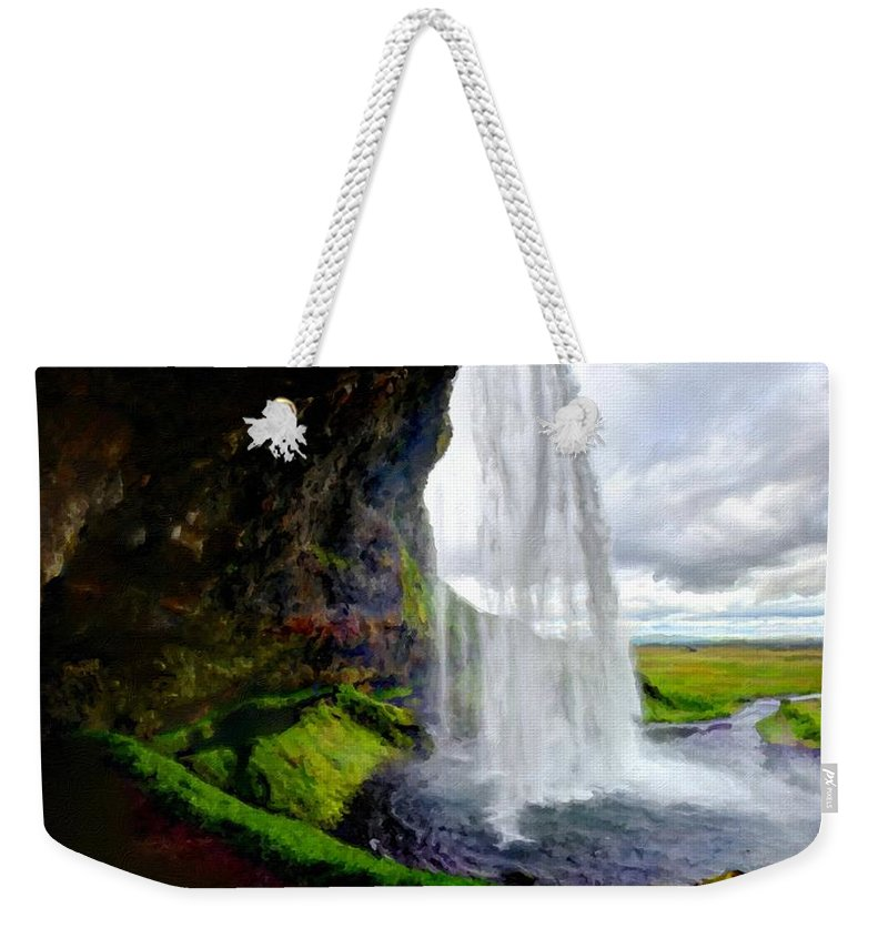 Original Weekender Tote Bag featuring the digital art Acrylic Landscape by Usa Map