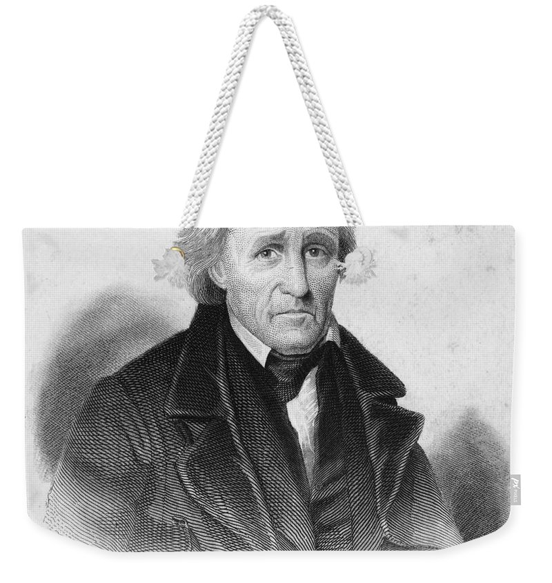 19th Century Weekender Tote Bag featuring the photograph Andrew Jackson (1767-1845) by Granger