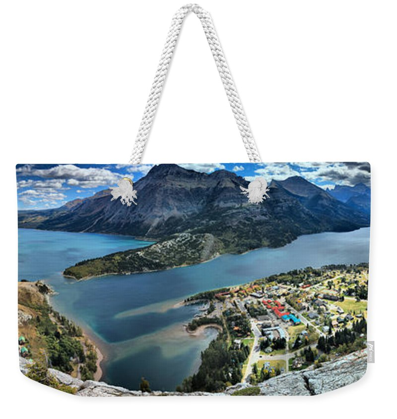 Bears Hump Weekender Tote Bag featuring the photograph Bears Hump Panorama by Adam Jewell