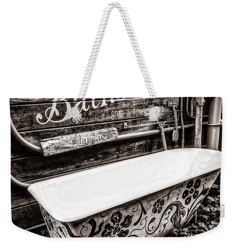 Bath Weekender Tote Bag featuring the photograph 5 Cent Bath by Steph Gabler