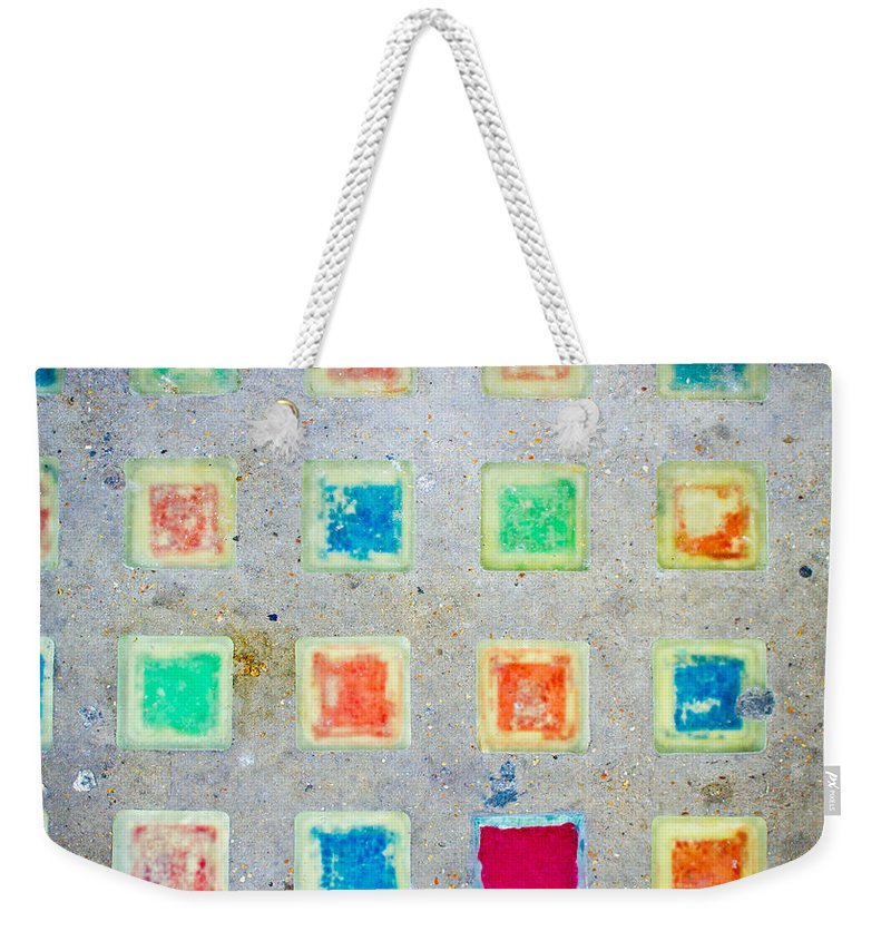 Abstract Weekender Tote Bag featuring the photograph Colorful Tiles by Tom Gowanlock