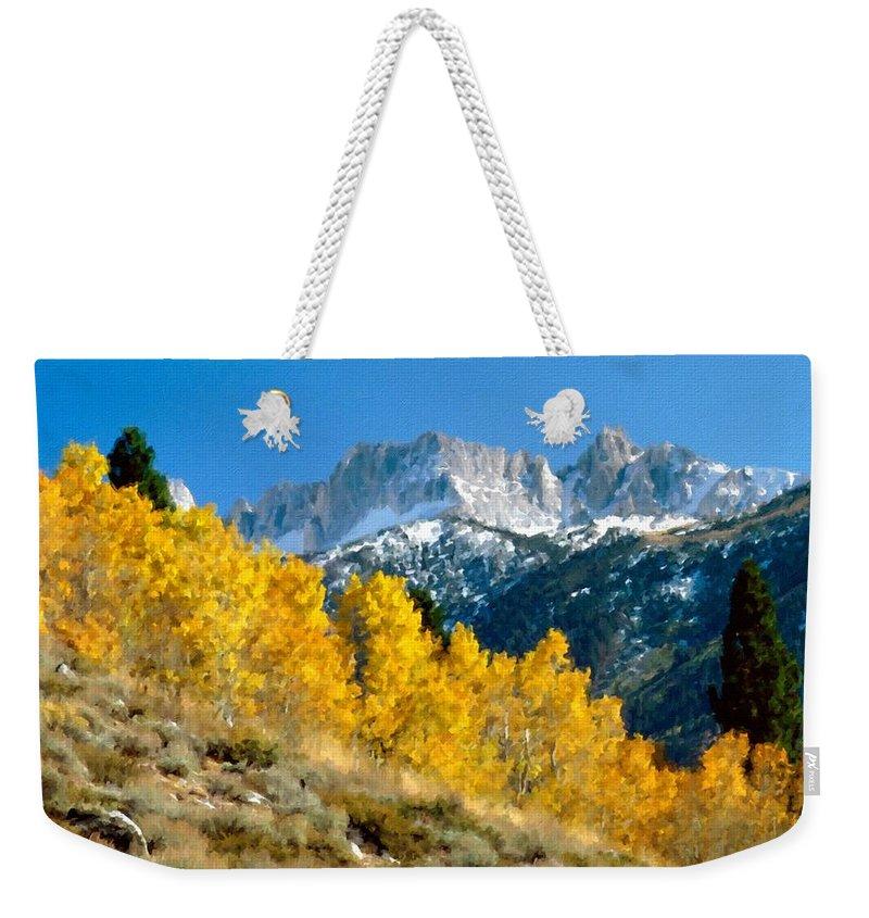 Landscape Weekender Tote Bag featuring the digital art D C Landscape by Usa Map