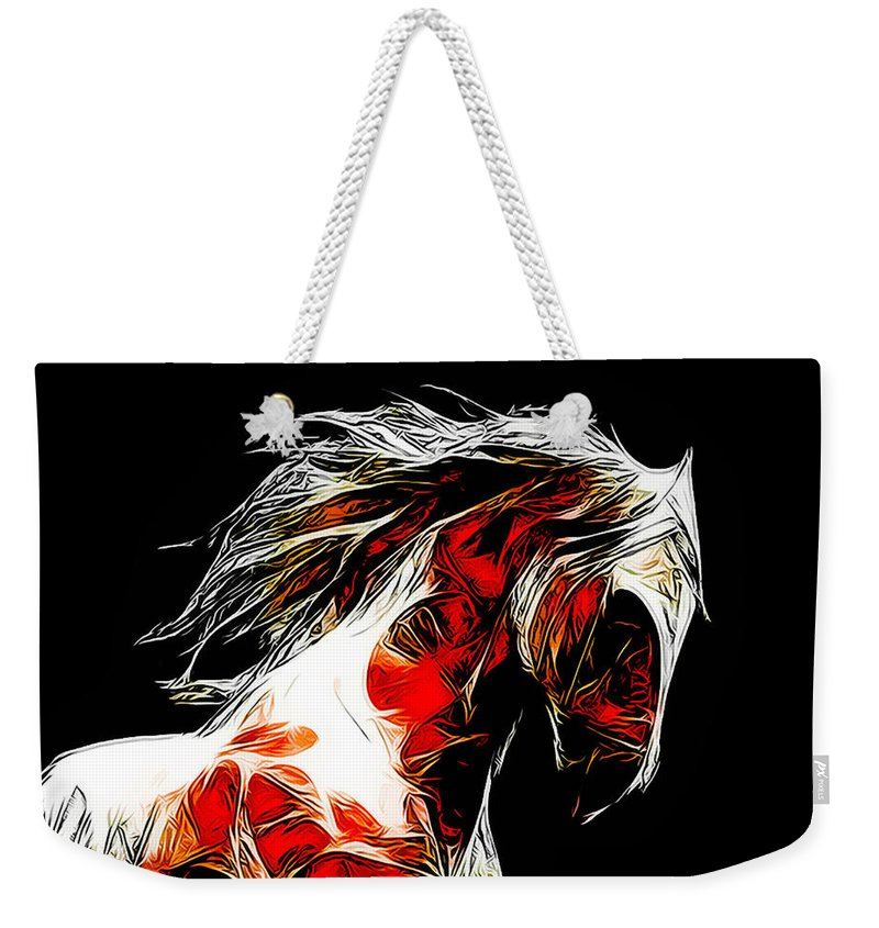 Horse Weekender Tote Bag featuring the photograph Dotsero by Terry Fiala