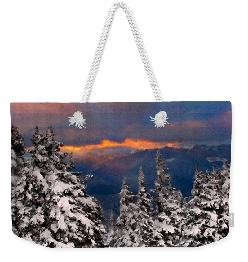 F Weekender Tote Bag featuring the digital art Drawings Landscapes by Usa Map