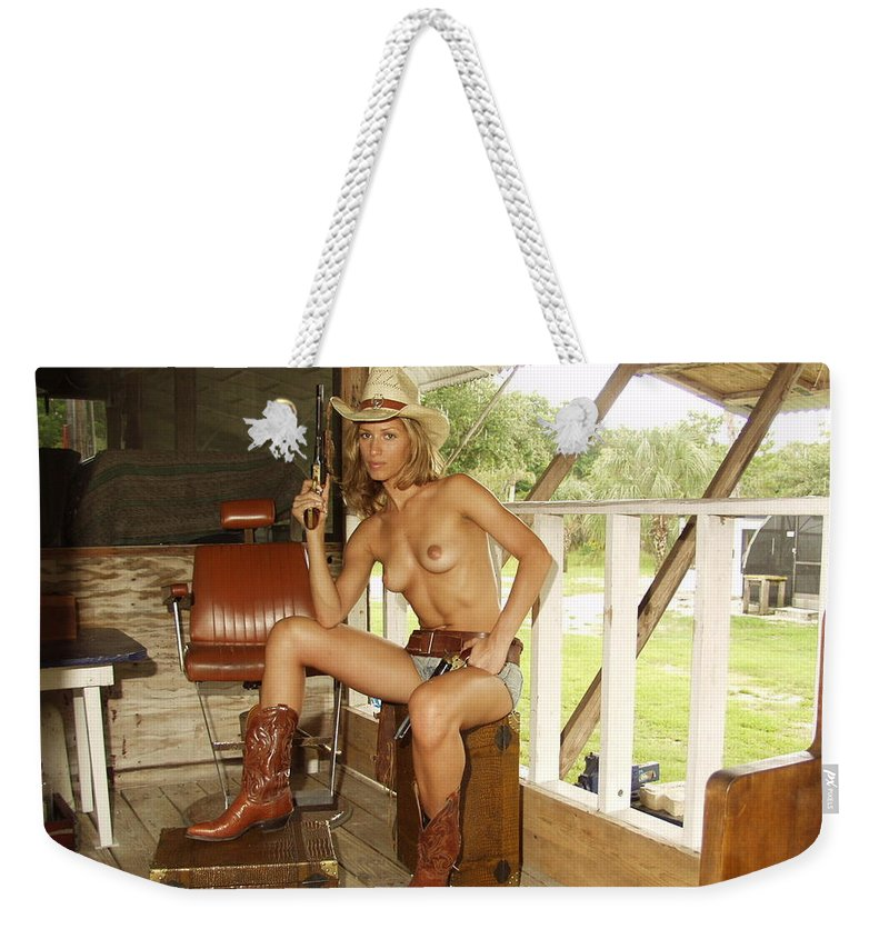 Lucky Cole Everglades Photographer Weekender Tote Bag featuring the photograph Everglades Cowgirl by Lucky Cole