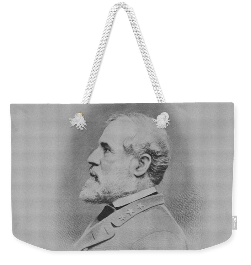 General Lee Weekender Tote Bag featuring the mixed media General Robert E Lee by War Is Hell Store
