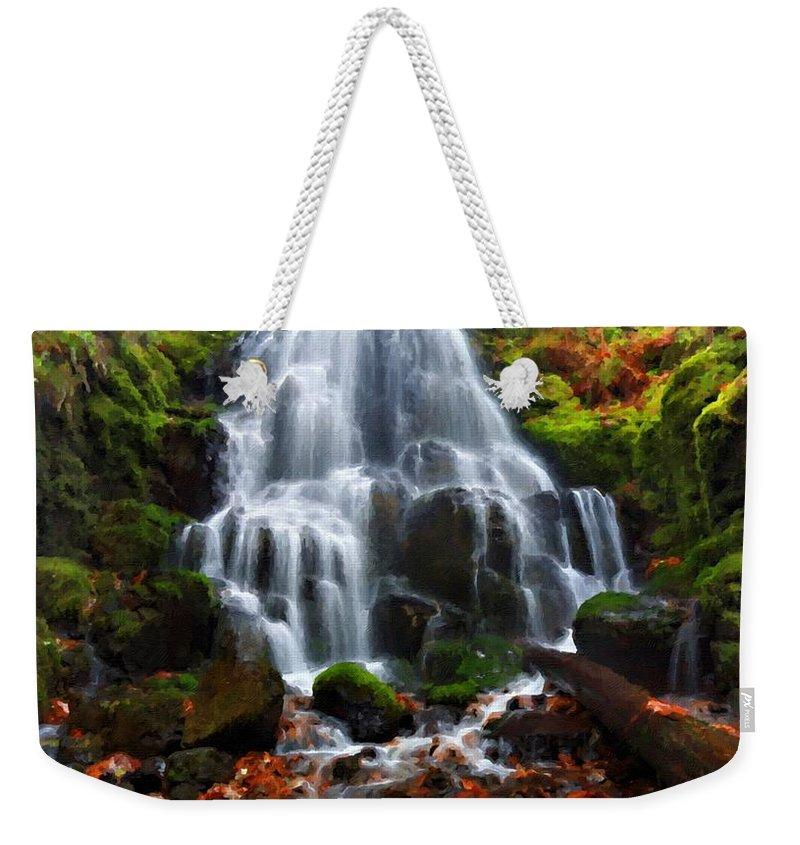 Landscape Weekender Tote Bag featuring the digital art Landscape Framed by Usa Map