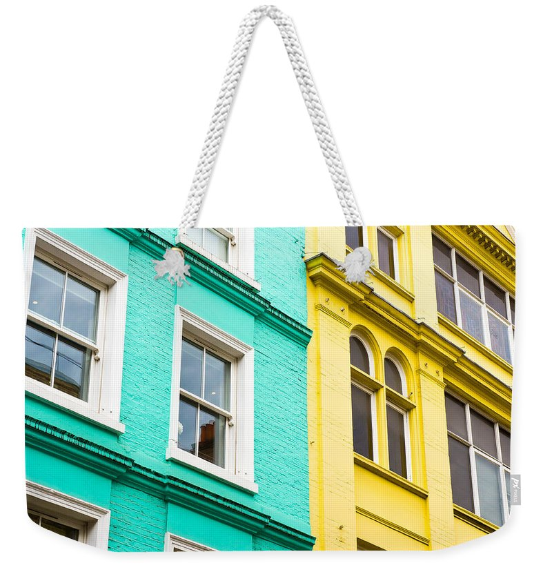 Apartment Weekender Tote Bag featuring the photograph London Houses by Tom Gowanlock