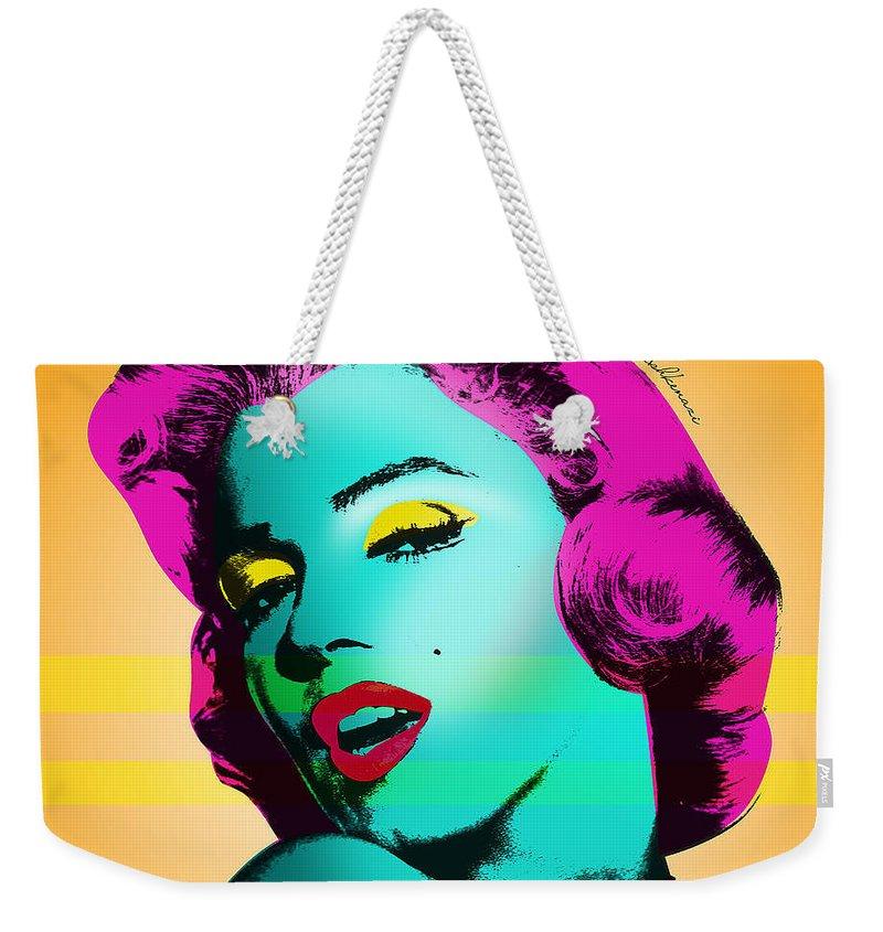 Abstract Portrait Weekender Tote Bags