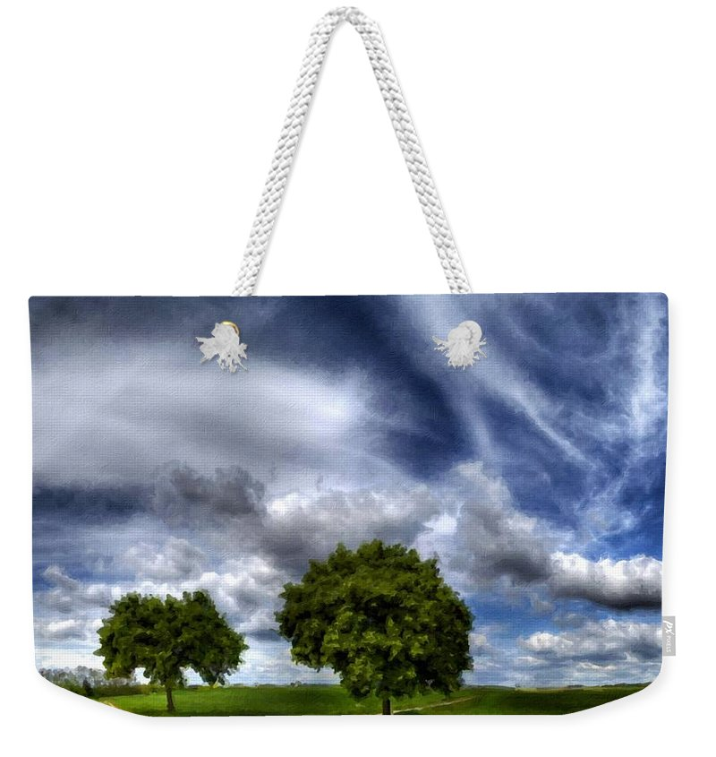 Acrylic Weekender Tote Bag featuring the digital art Nature By by Usa Map