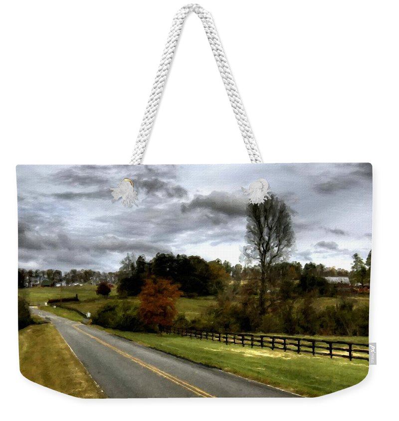 Pro Weekender Tote Bag featuring the digital art Nature Landscape by Usa Map