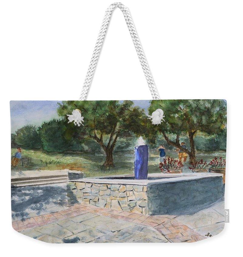 Brookside Gardens Paintings Weekender Tote Bags