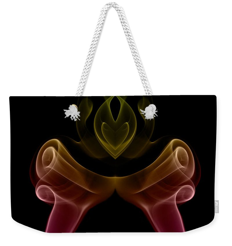 Abstract Weekender Tote Bag featuring the photograph smoke XIX by Joerg Lingnau