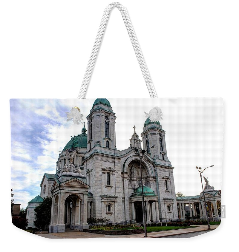 Weekender Tote Bag featuring the photograph The Basilica by Michael Frank Jr