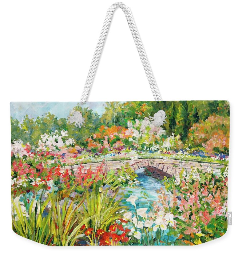 Landscape Weekender Tote Bag featuring the painting Untitled by Ingrid Dohm