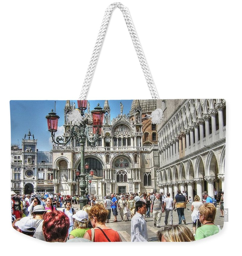 Venice City Weekender Tote Bag featuring the pyrography Venice by Yury Bashkin