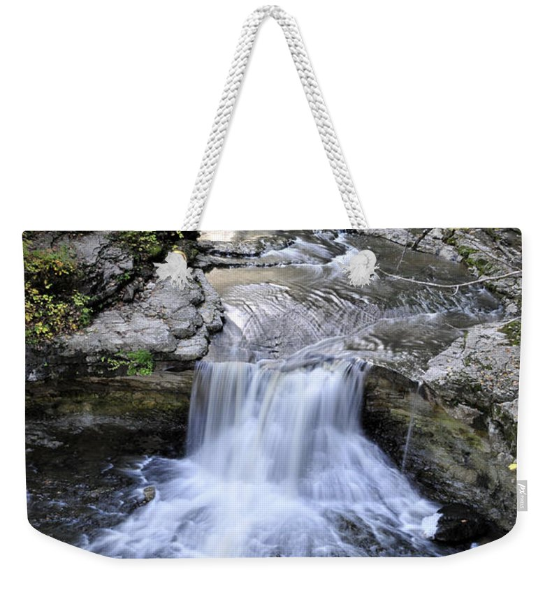 Water Weekender Tote Bag featuring the photograph Waterfall by David Arment