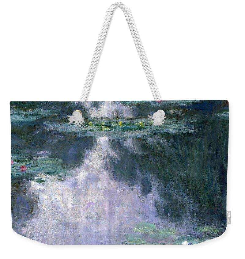 Water Lilly Weekender Tote Bags