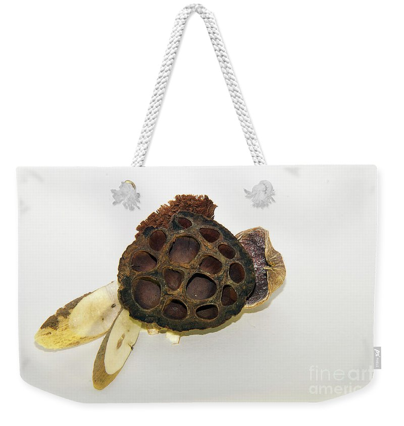 Objects Weekender Tote Bag featuring the photograph Wooden Decorations by Elvira Ladocki