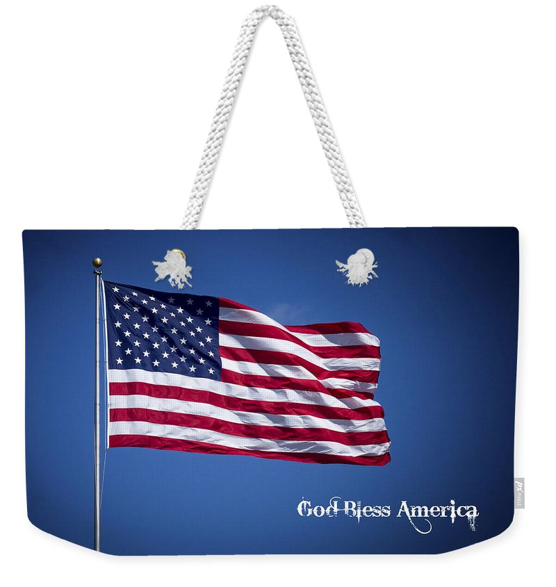 50 Stars Thirteen Stripes American Flag God Bless America Weekender