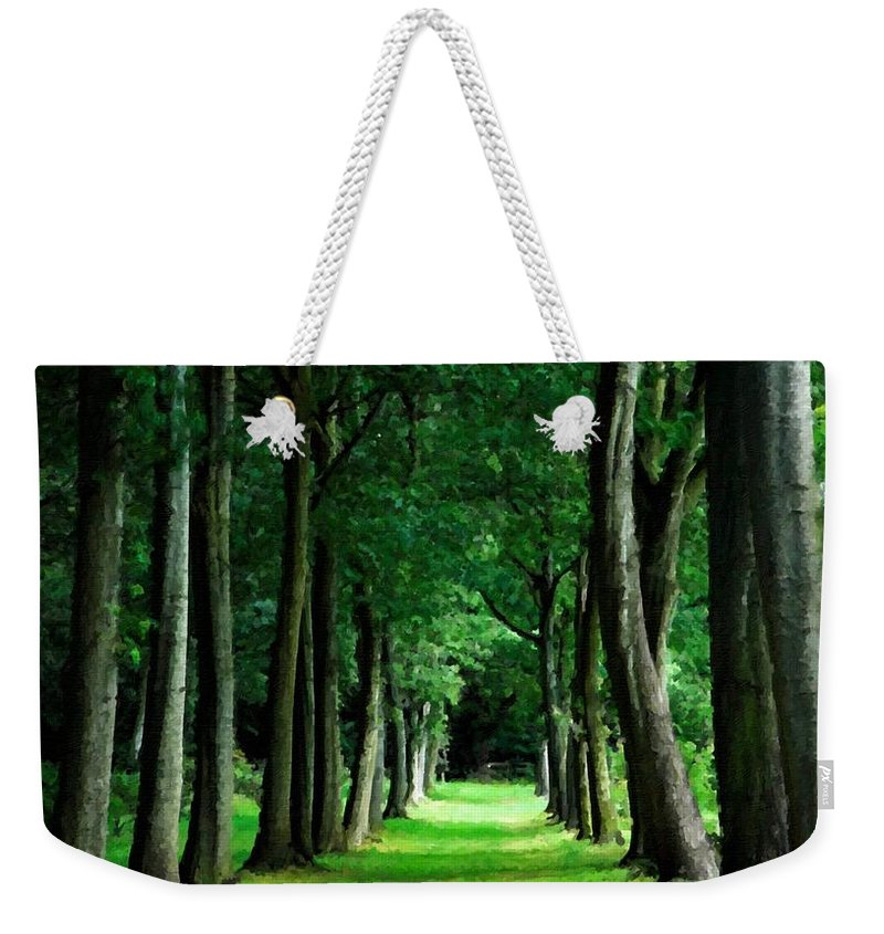 Landscape Weekender Tote Bag featuring the digital art Landscape Definition by Usa Map
