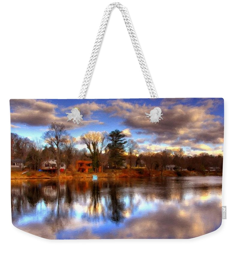 Native Weekender Tote Bag featuring the digital art Landscape R Us by Usa Map