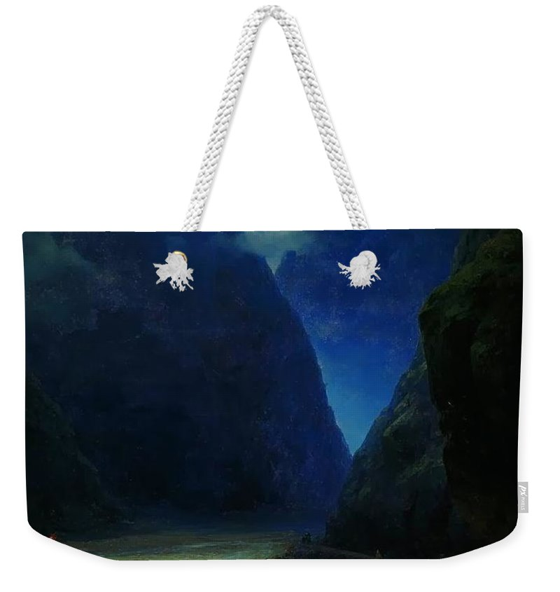 Ivan Constantinovich Aivazovsky Weekender Tote Bag featuring the painting Landscape by MotionAge Designs