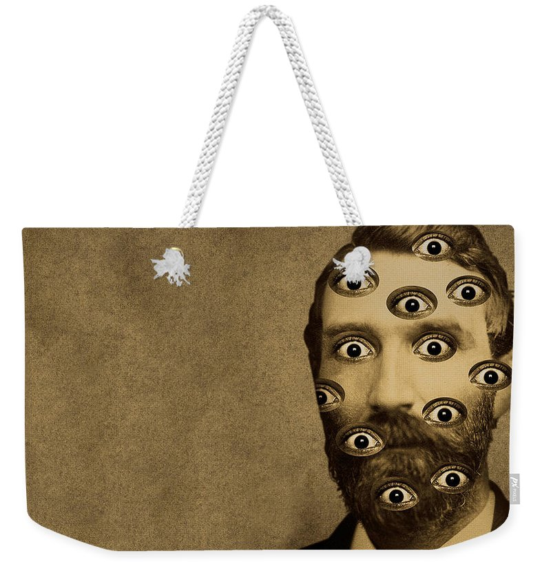 3 Funny Wtf Weekender Tote Bag featuring the digital art 53384 Funny Wtf by Mery Moon