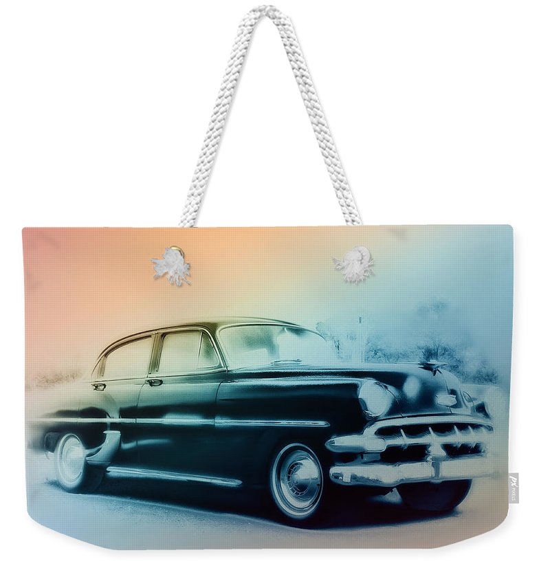 1954 Weekender Tote Bag featuring the photograph 54 Chevy by Bill Cannon