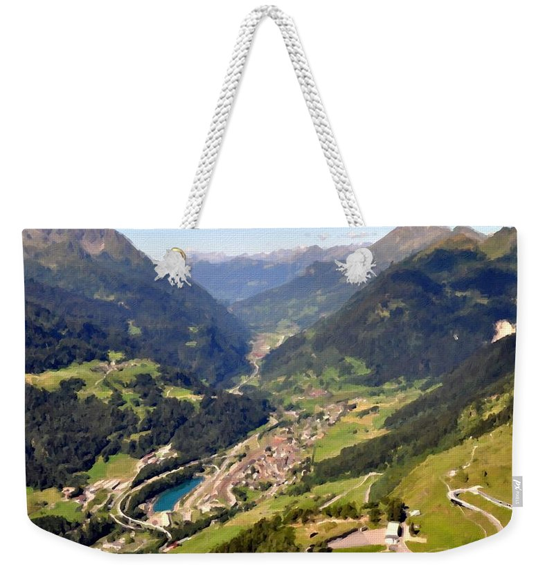 Graphic Weekender Tote Bag featuring the digital art Paint Landscapes by Usa Map