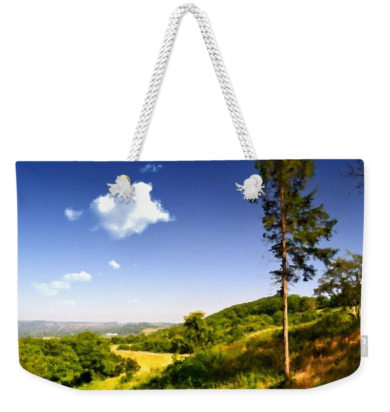 Oil Weekender Tote Bag featuring the digital art Paint Landscapes by Usa Map
