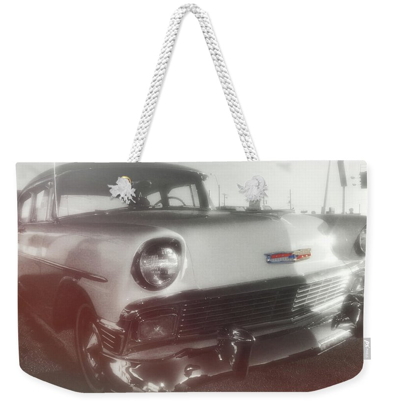 Auto Weekender Tote Bag featuring the photograph 56 Belair In Memphis by JAMART Photography