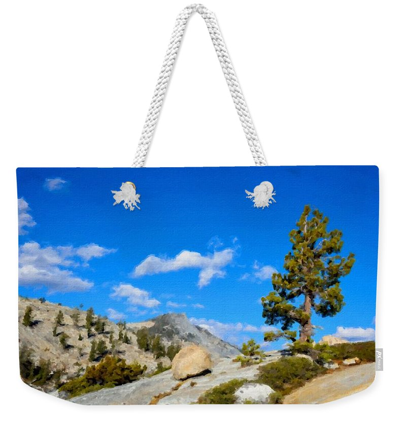Images Weekender Tote Bag featuring the digital art D L Landscape by Usa Map
