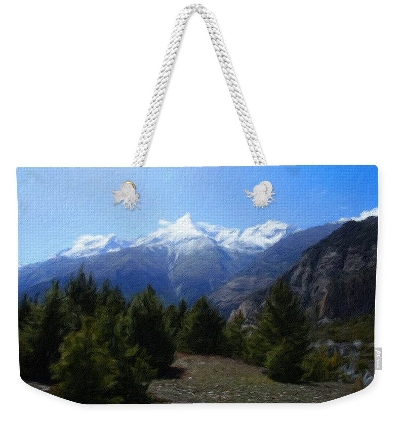 P Weekender Tote Bag featuring the digital art Landscape Az by Usa Map