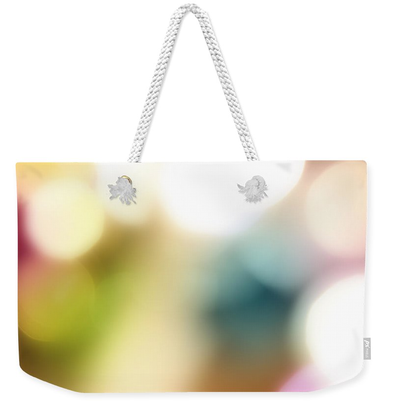 Bright Lights Weekender Tote Bag featuring the digital art Abstract Background by Les Cunliffe
