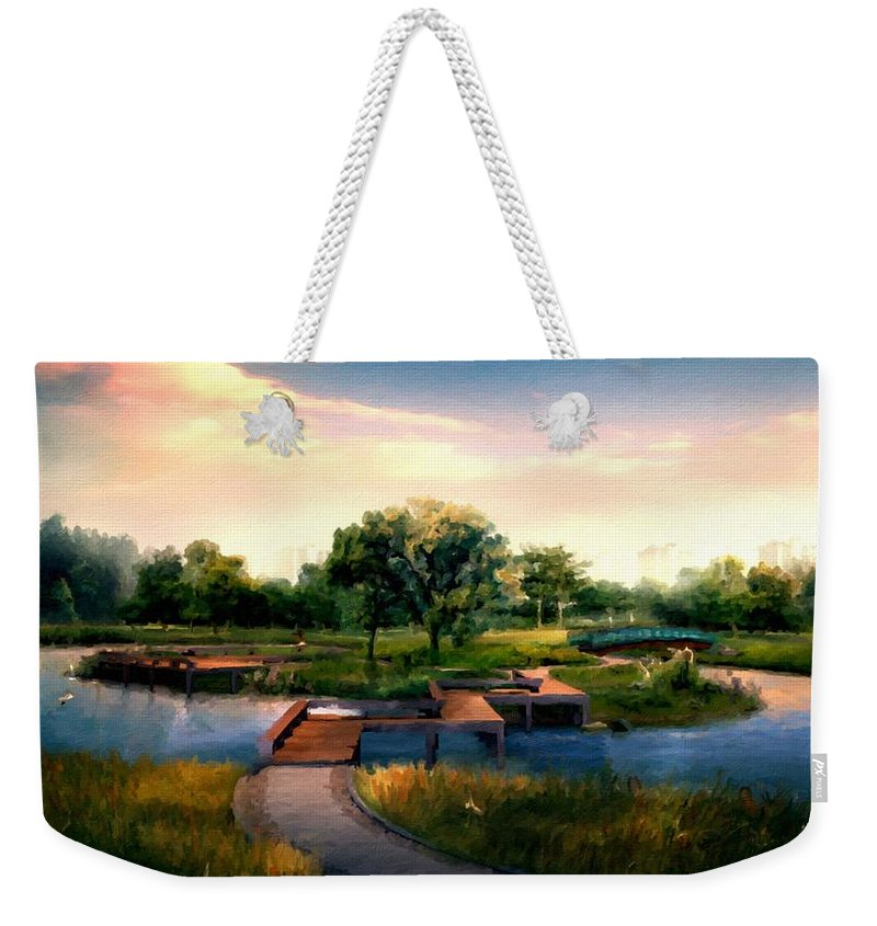 Landscape Weekender Tote Bag featuring the digital art Landscape Painted by Usa Map