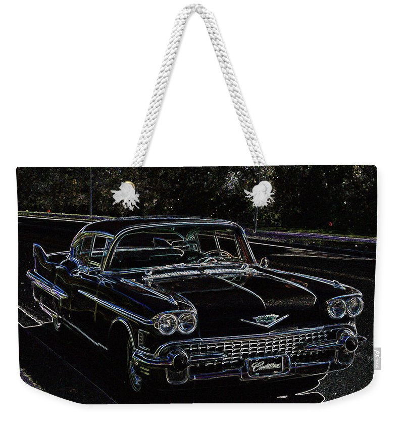 1958 Cadillac Fleetwood 60 Special 4 Door Car Automobile Vehicles Classic Ride Antique Weekender Tote Bag featuring the photograph 58 Fleetwood by Andrea Lawrence