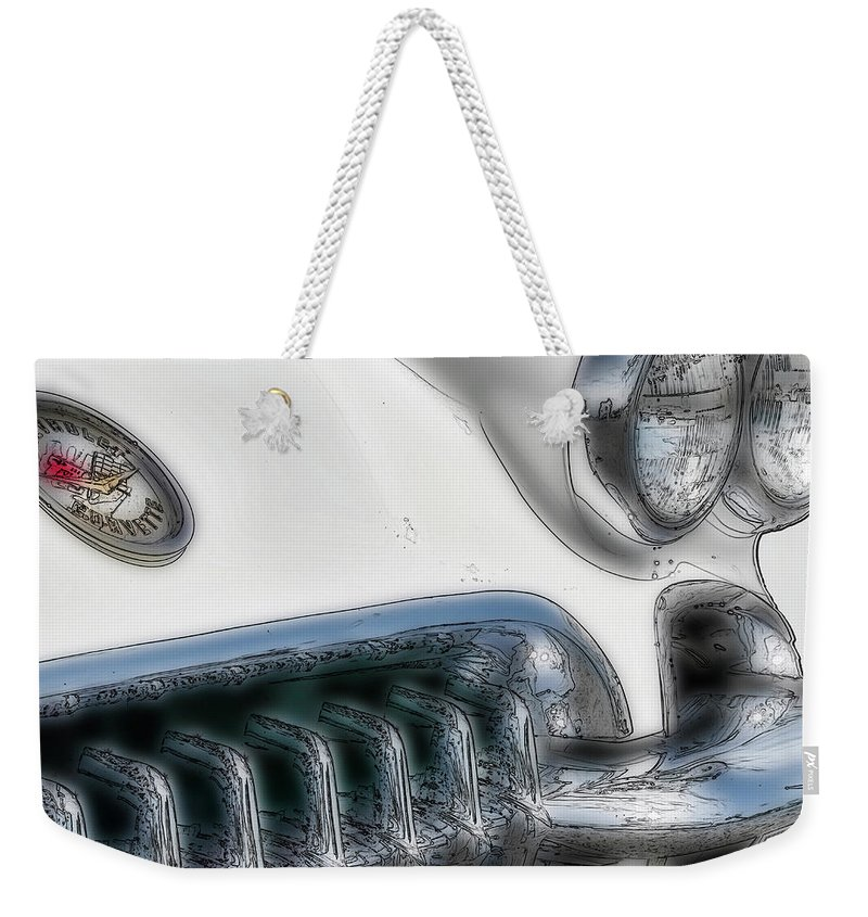 Auto Weekender Tote Bag featuring the digital art '58 Sting Ray by Irwin Seidman
