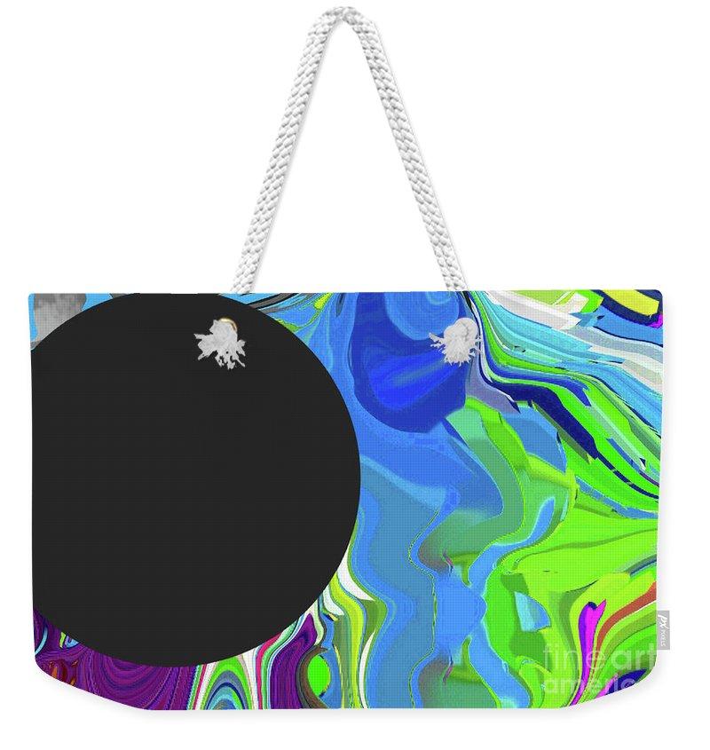 Walter Paul Bebirian Weekender Tote Bag featuring the digital art 6-11-2015gabcdefghijklmnopqrtuvwxyzabcd by Walter Paul Bebirian