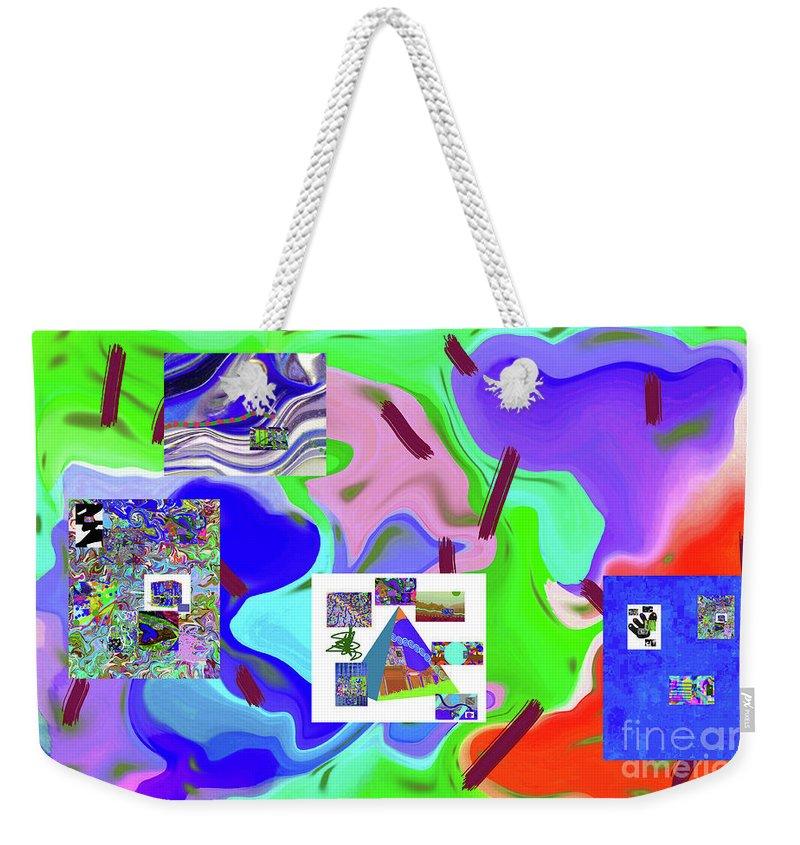 Walter Paul Bebirian Weekender Tote Bag featuring the digital art 6-19-2015dabcdefgh by Walter Paul Bebirian