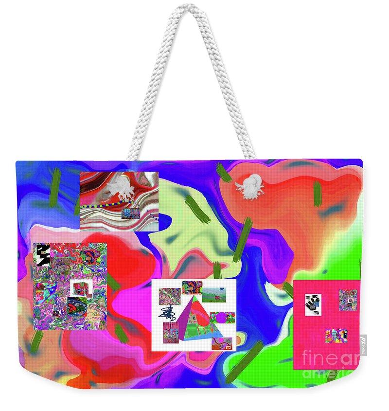 Walter Paul Bebirian Weekender Tote Bag featuring the digital art 6-19-2015dabcdefghijklmnopqrtuvwxyzabcdefgh by Walter Paul Bebirian