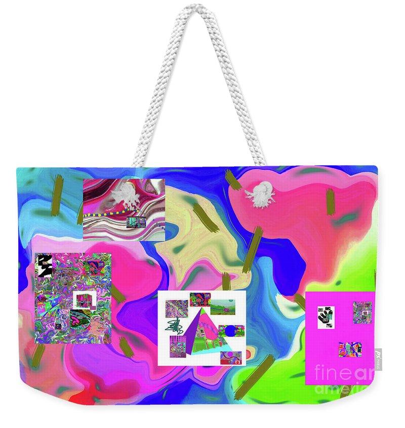 Walter Paul Bebirian Weekender Tote Bag featuring the digital art 6-19-2015dabcdefghijklmnopqrtuvwxyzabcdefghijk by Walter Paul Bebirian